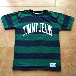 Vintage Tommy Jeans Classic Stripe Tee Shirt